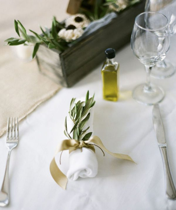 Olive Wedding Confetti and Decoration Ideas stylemepretty.com - punambean.com
