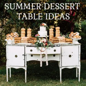 summer wedding dessert table ideas sq