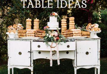 summer wedding dessert table ideas sq