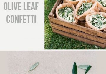 Olive Wedding Confetti and Decoration Ideas