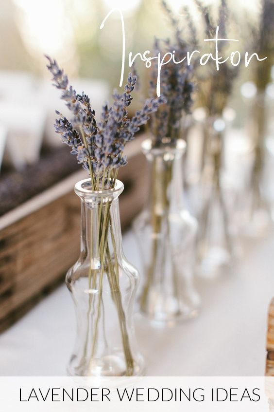 DRIED LAVENDER WEDDING IDEAS