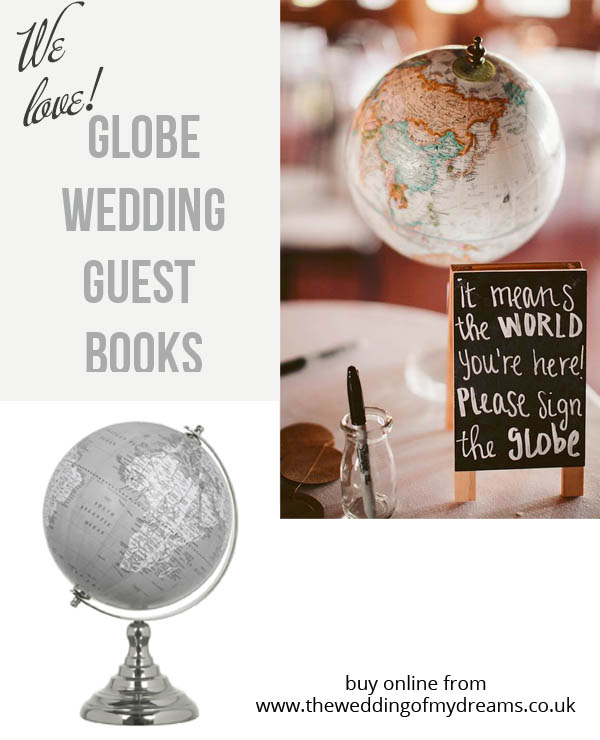 Globe wedding guest books