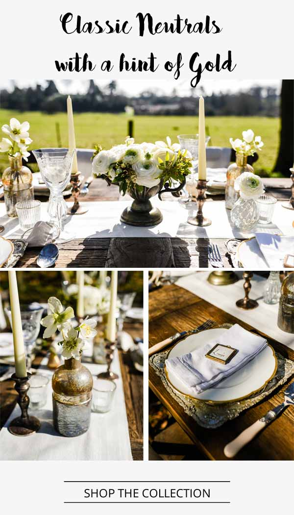 classic neutral and gold wedding decorations from the wedding of my dreams (1)