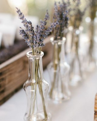 dried lavender wedding centrepieces