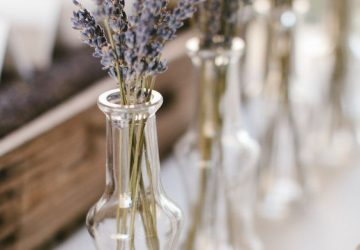 dried lavender wedding centrepieces
