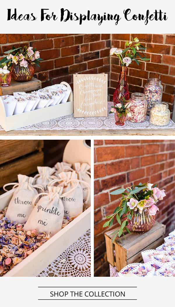 ideas for displaying wedding confetti from the wedding of my dreams (1)