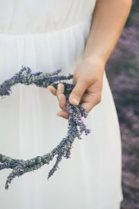 lavender flower crowns