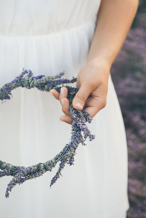 lavender flower crowns