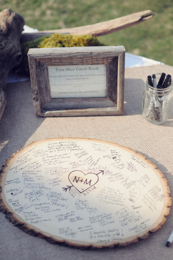 Alternative Guest Book Ideas for Summer Weddings stylemepretty.com - aleamoore.com