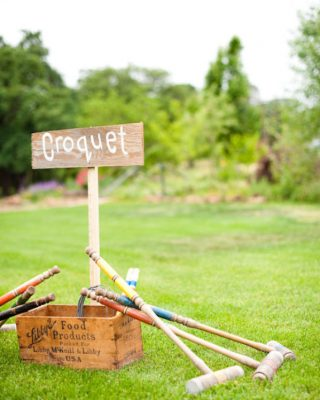 summer wedding fun ideas outdoor games The Wedding of my Dreams CROQUET