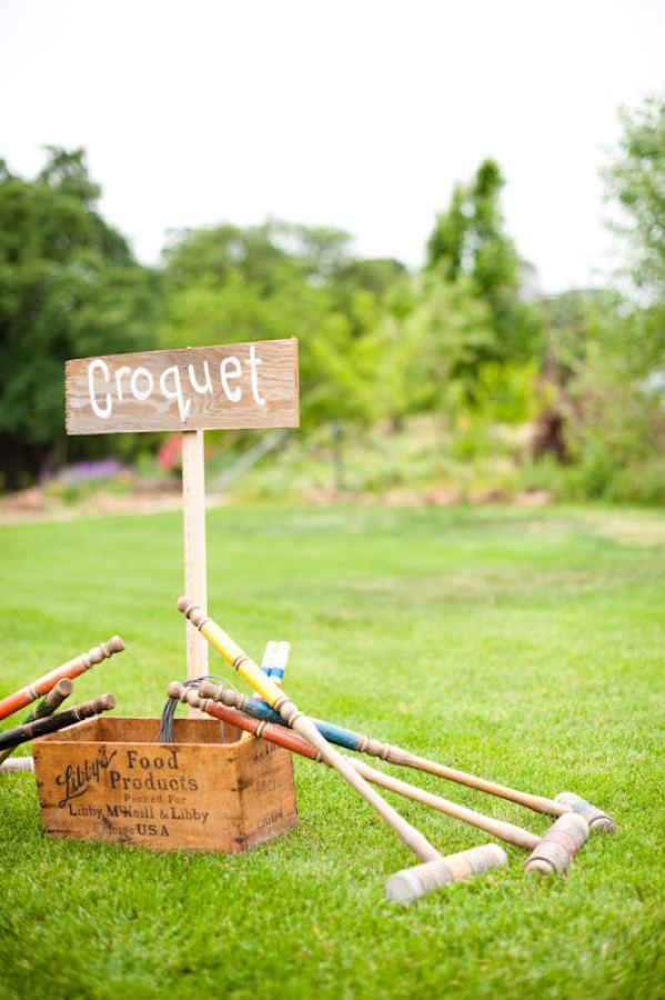 summer wedding fun ideas outdoor games The Wedding of my Dreams CROQUET