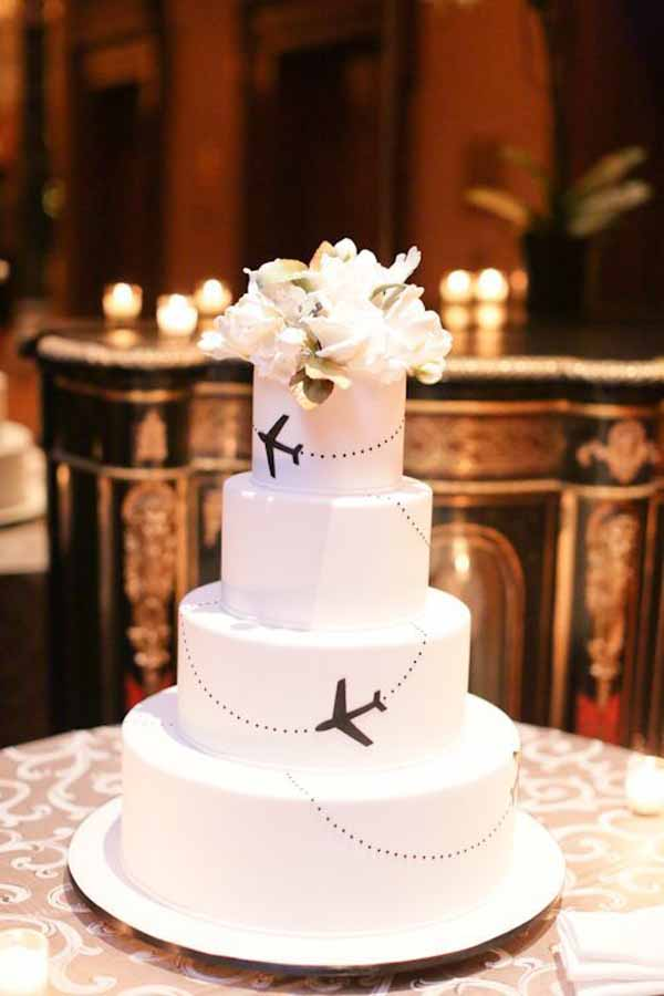 travel theme wedding ideas wedding cake