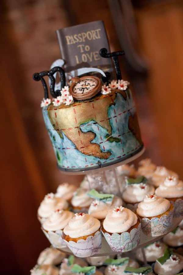 travel theme wedding ideas wedding cakes