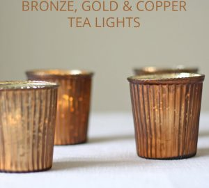 bronze copper gold tea light holders
