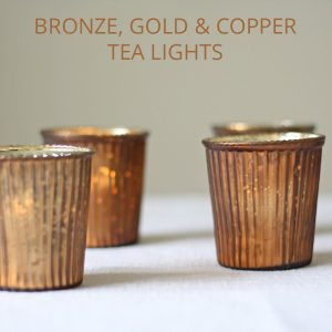 bronze copper gold tea light holders