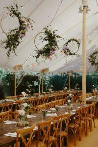 marquee wedding entrance ideas hoops