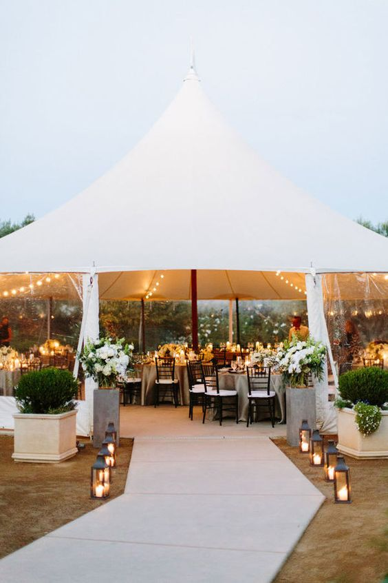 marquee wedding entrance ideas lanterns