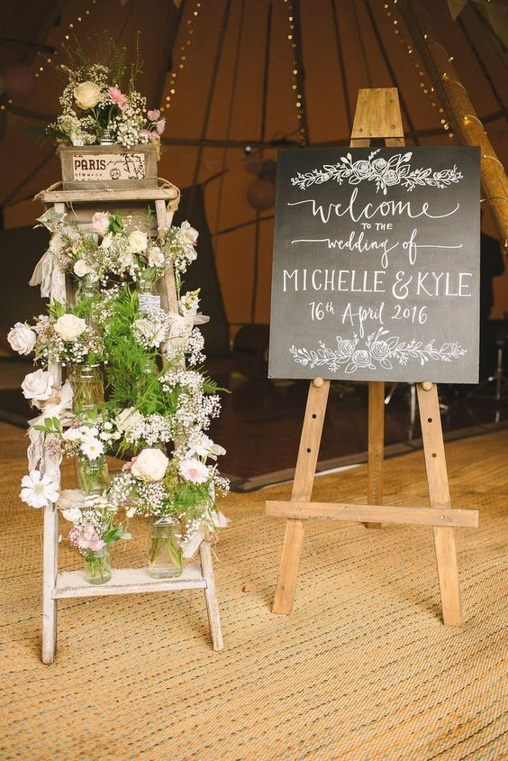marquee wedding entrance ideas welcome signs