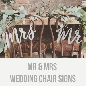 mr and mrs wedding chair signs sq