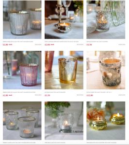 Candles tealights holders weddings