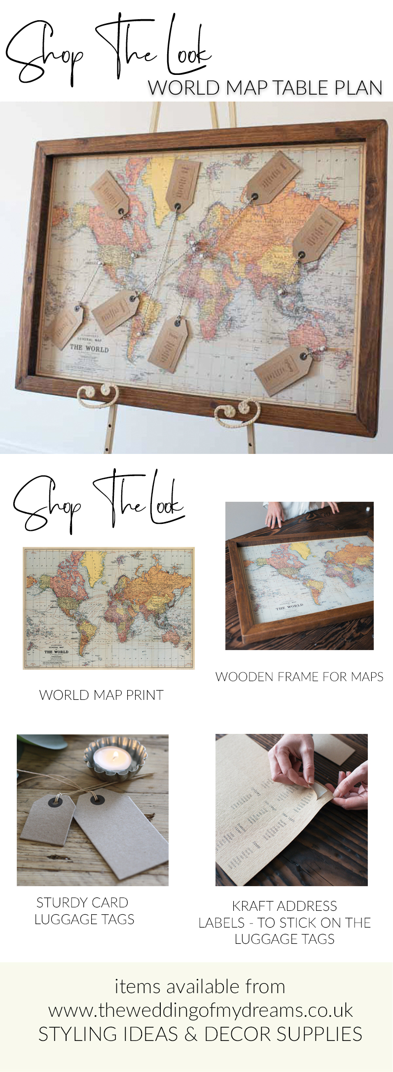 World map wedding table plan shop the look where to buy