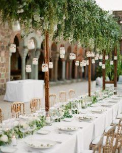 hanging candles wedding ideas