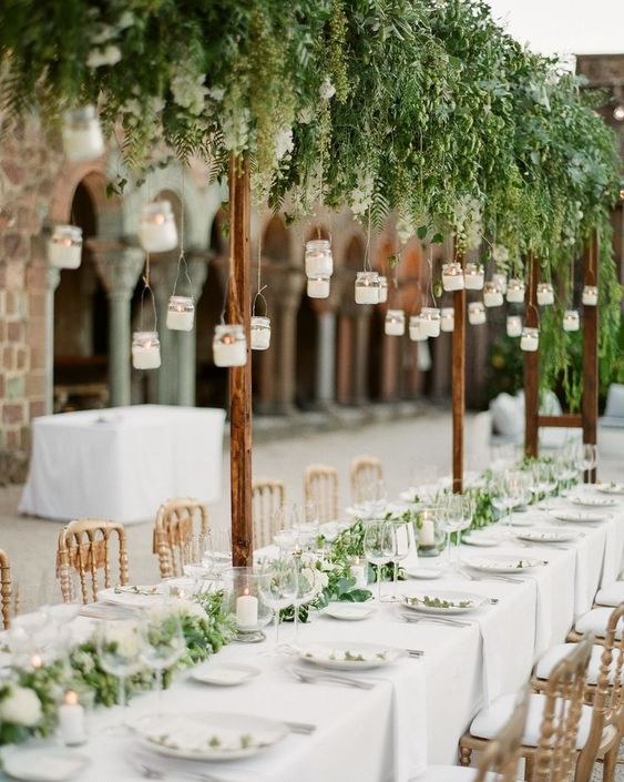 hanging candles wedding ideas
