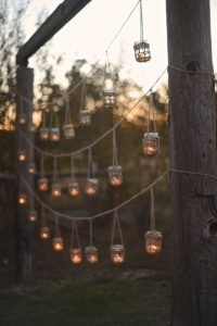 hanging candles displays weddings