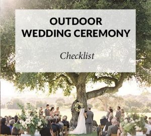 outdoor wedding ceremony checklist