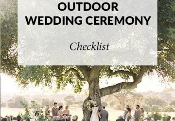 outdoor wedding ceremony checklist