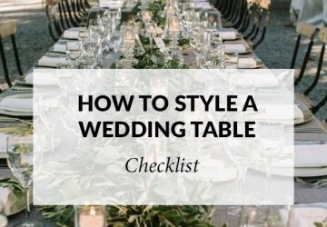 the art of styling a wedding table