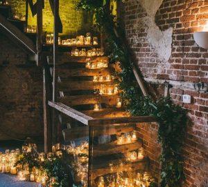 wedding candles tealights everywhere