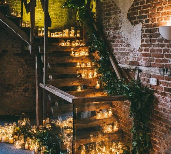 wedding candles tealights everywhere