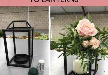 HOW TO ADD LANTERNS TO FLOWERS FOR WEDDINGS sq