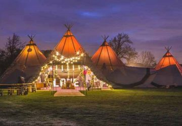 teepee the perfect venue for an autumn festival wedding