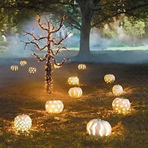 classy halloween ideas white pumpkins