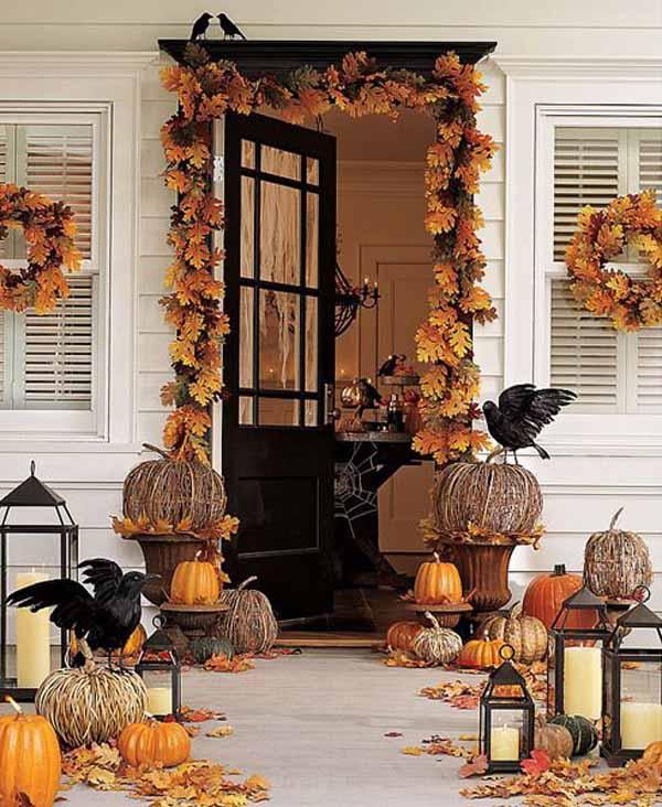 Classy halloween front door decorations
