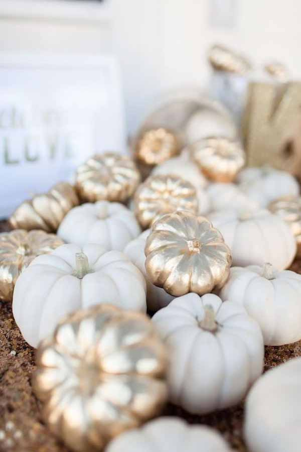 silver gold white pumpkins classy halloween