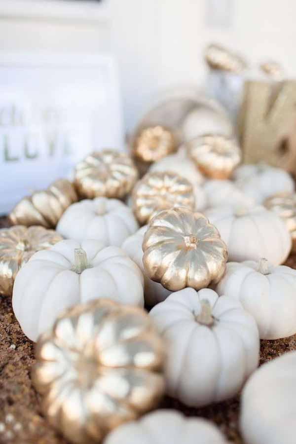 silver gold white pumpkins classy halloween