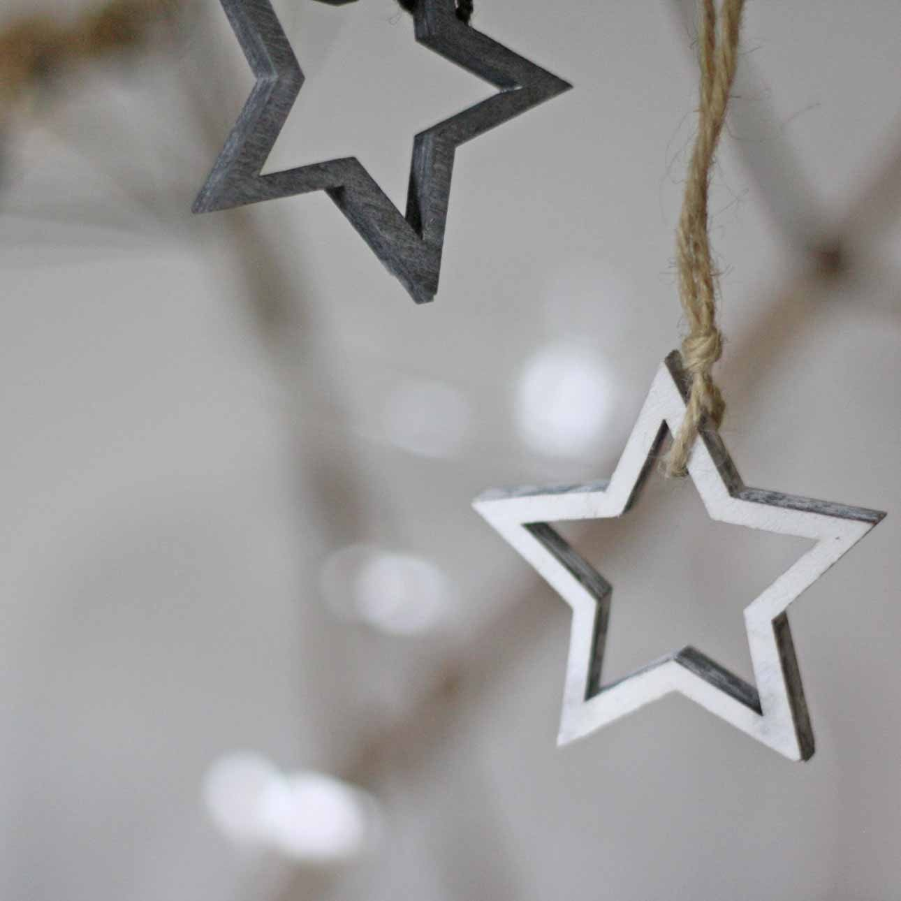 wooden stars winter wedding favours