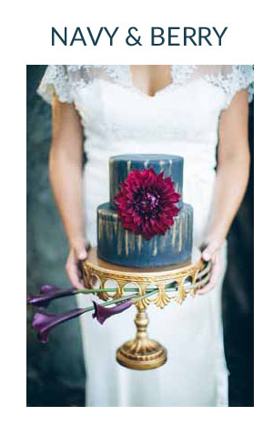 BERRY AND NAVY wedding colour scheme
