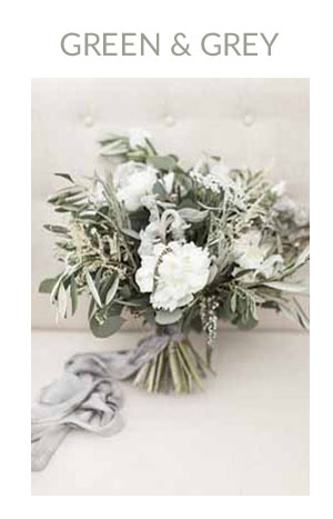 GREEN AND GREY wedding colour scheme
