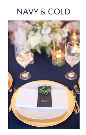 NAVY AND GOLD wedding colour scheme