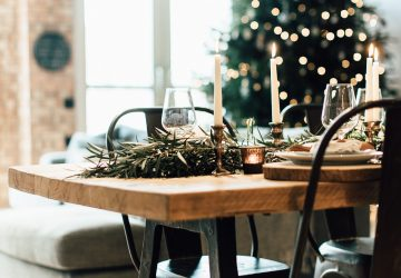 Industrial Living loft apartment Dining Table Christmas(52)