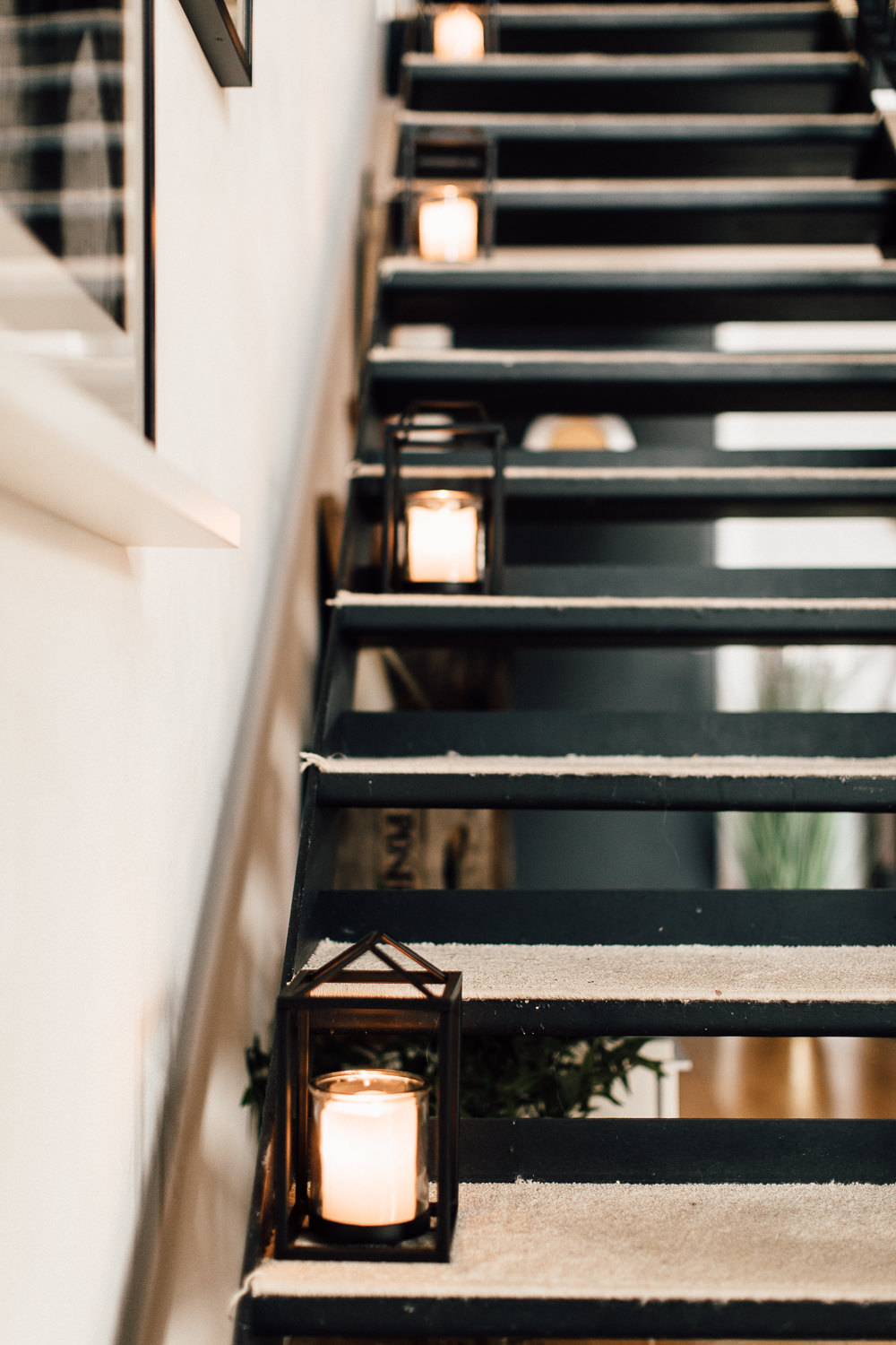 Industrial Living loft apartment lanterns stairs (1)