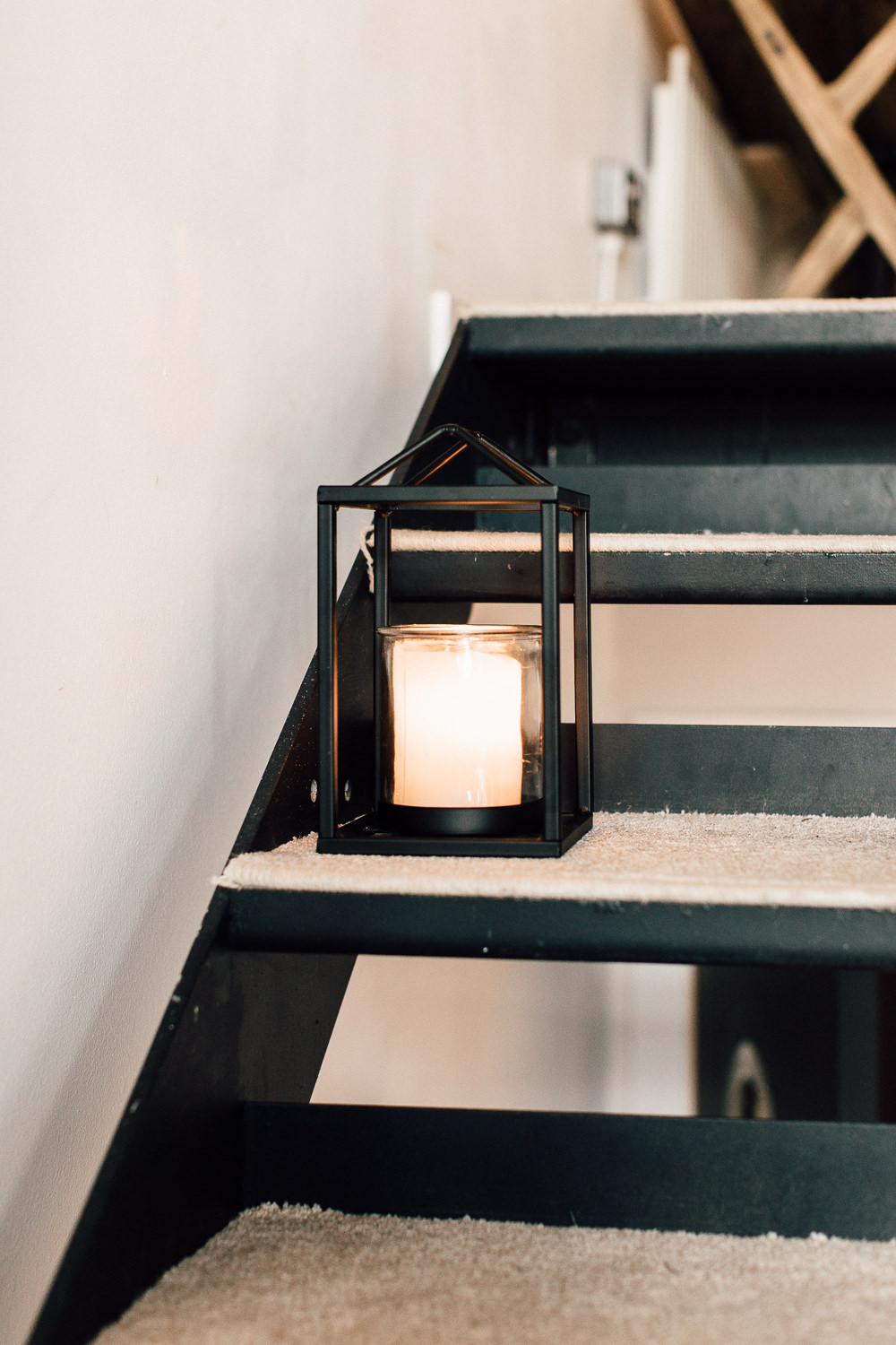 Industrial Living loft apartment lanterns stairs (2)