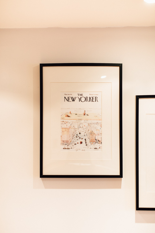 New Yorker Prints in Black Frames