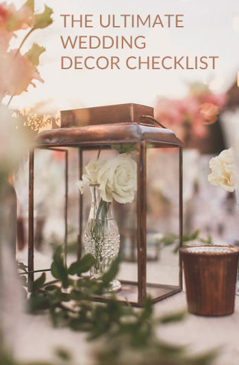 Wedding decorations checklist what you will need the ultimate wedding decorations checklist junglespirit Image collections