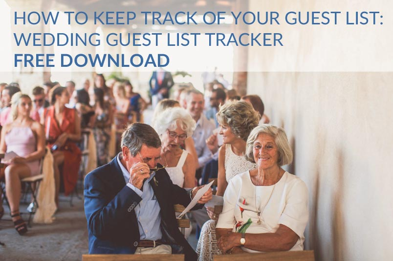 how to keep track of wedding guest list rsvps spreadsheet