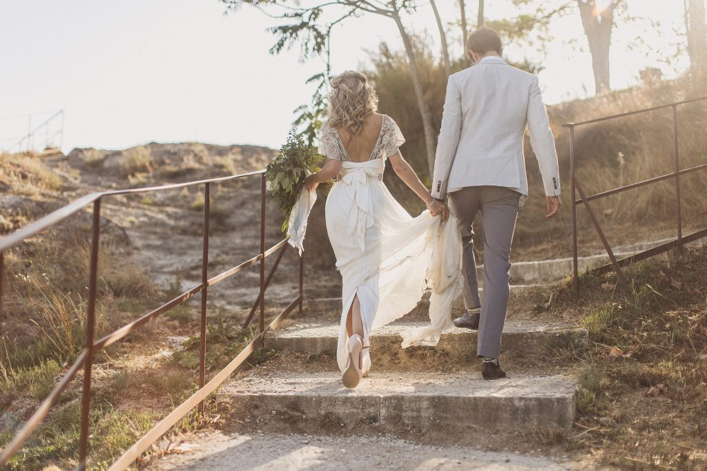 Anna Campbell Adelaide wedding dress Italy Tuscany Wedding Bagno Vignoni
